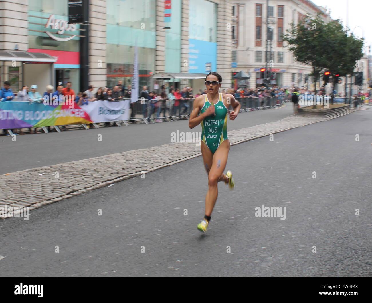 ITU World Triathlon Series - Elite Women - Leeds - Stock Image