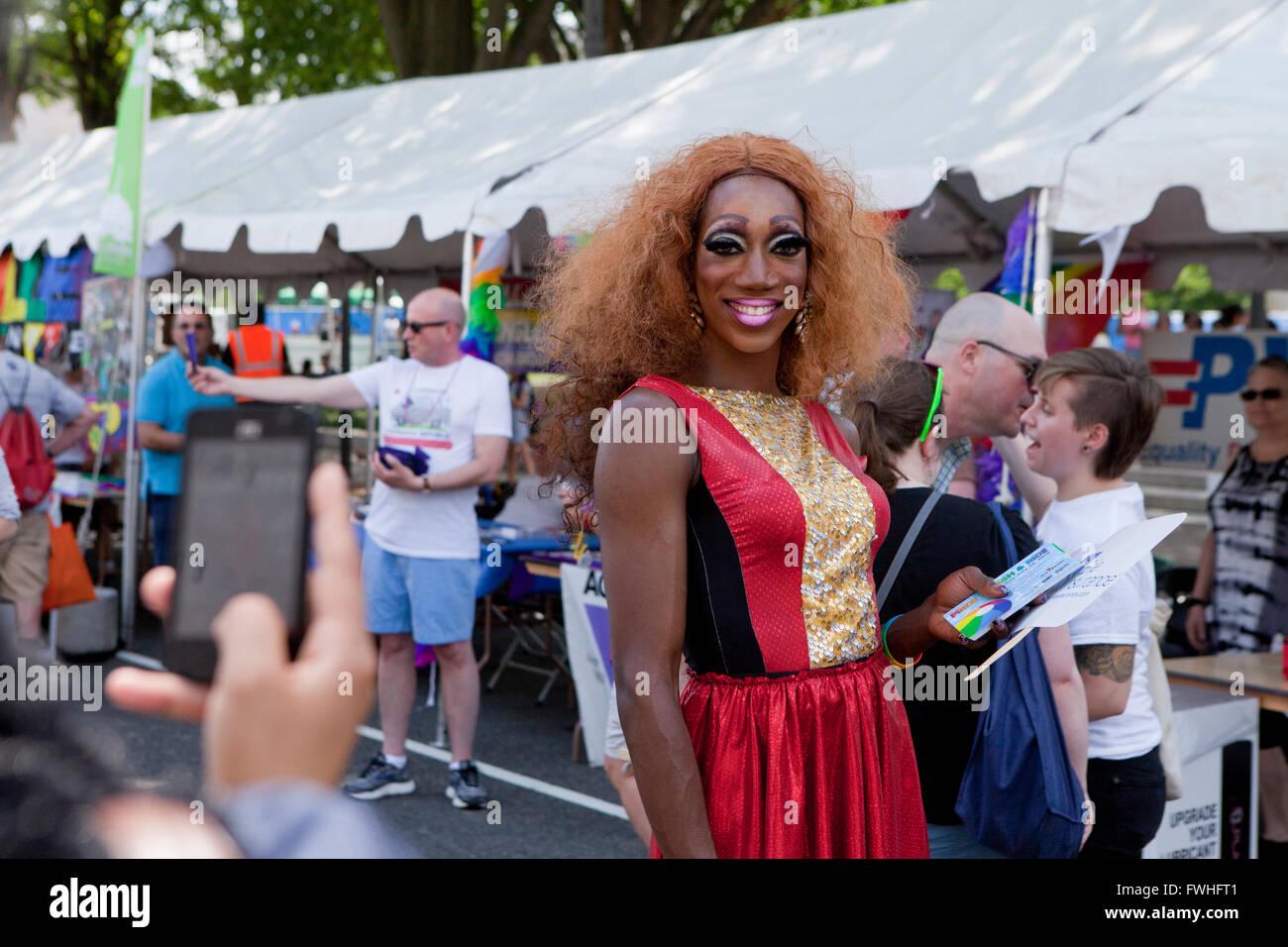 Washington DC, USA. 12th June, 2016. Thousands of participants celebrate Pride month in Washington, DC USA Credit: - Stock Image