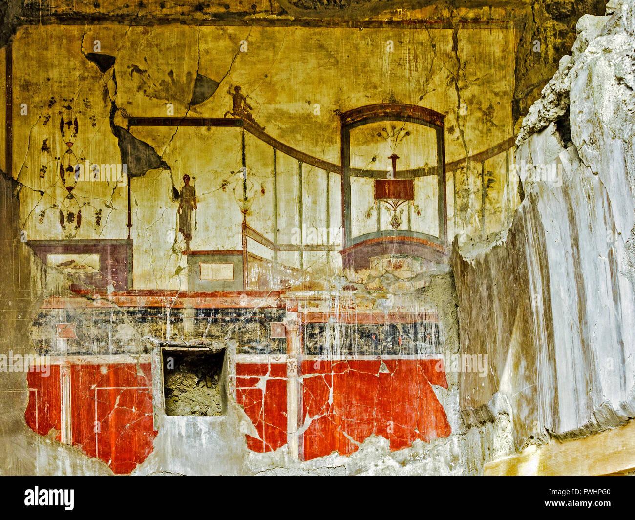 Wall painting Herculaneum Italy Stock Photo: 101809120 - Alamy