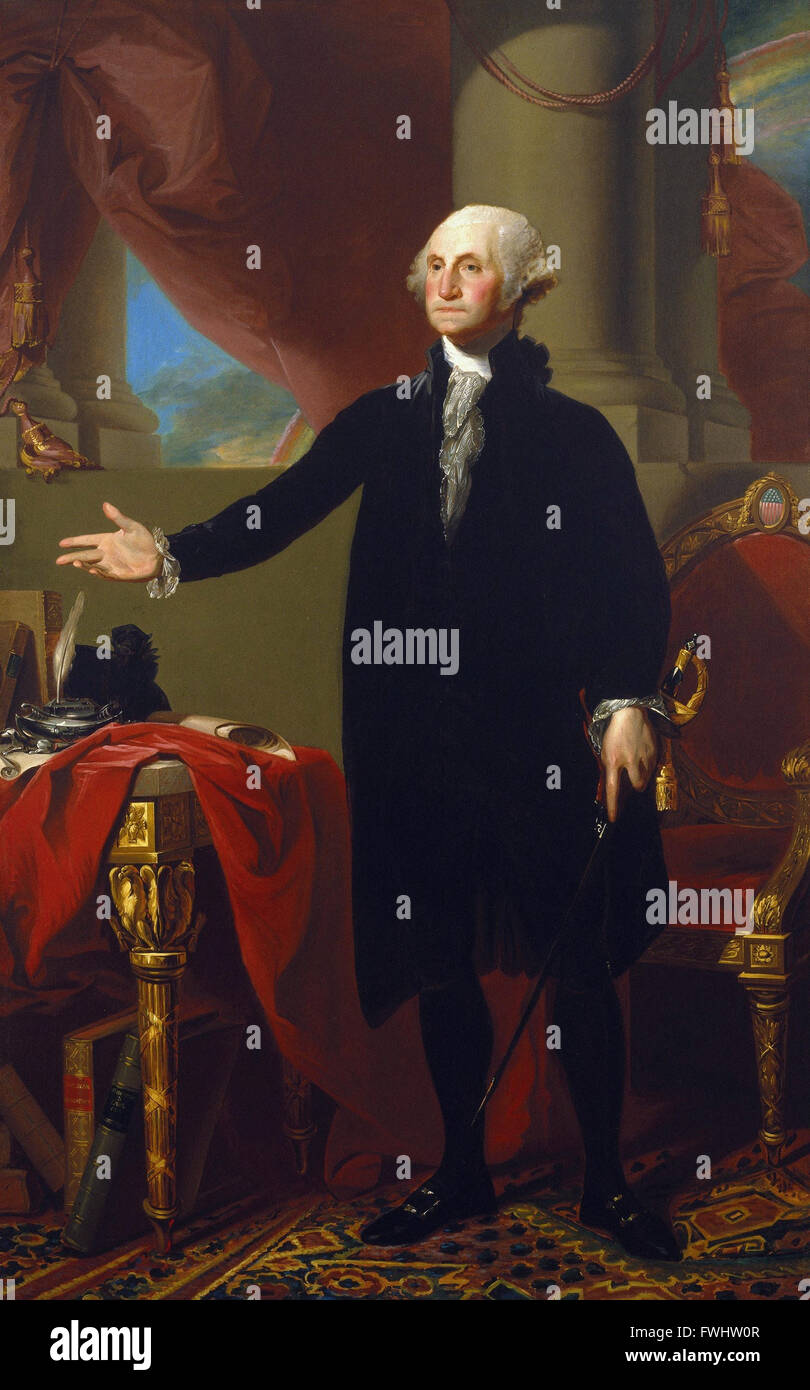 Gilbert Stuart - George Washington - Brooklyn Museum Stock Photo