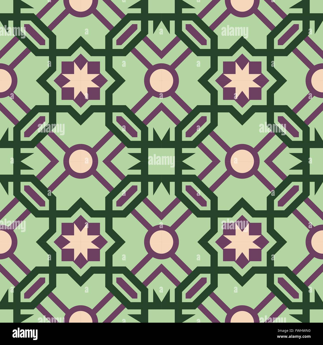 Abstract Ceramic Mosaic Floor Tile Seamless Pattern With Geometric