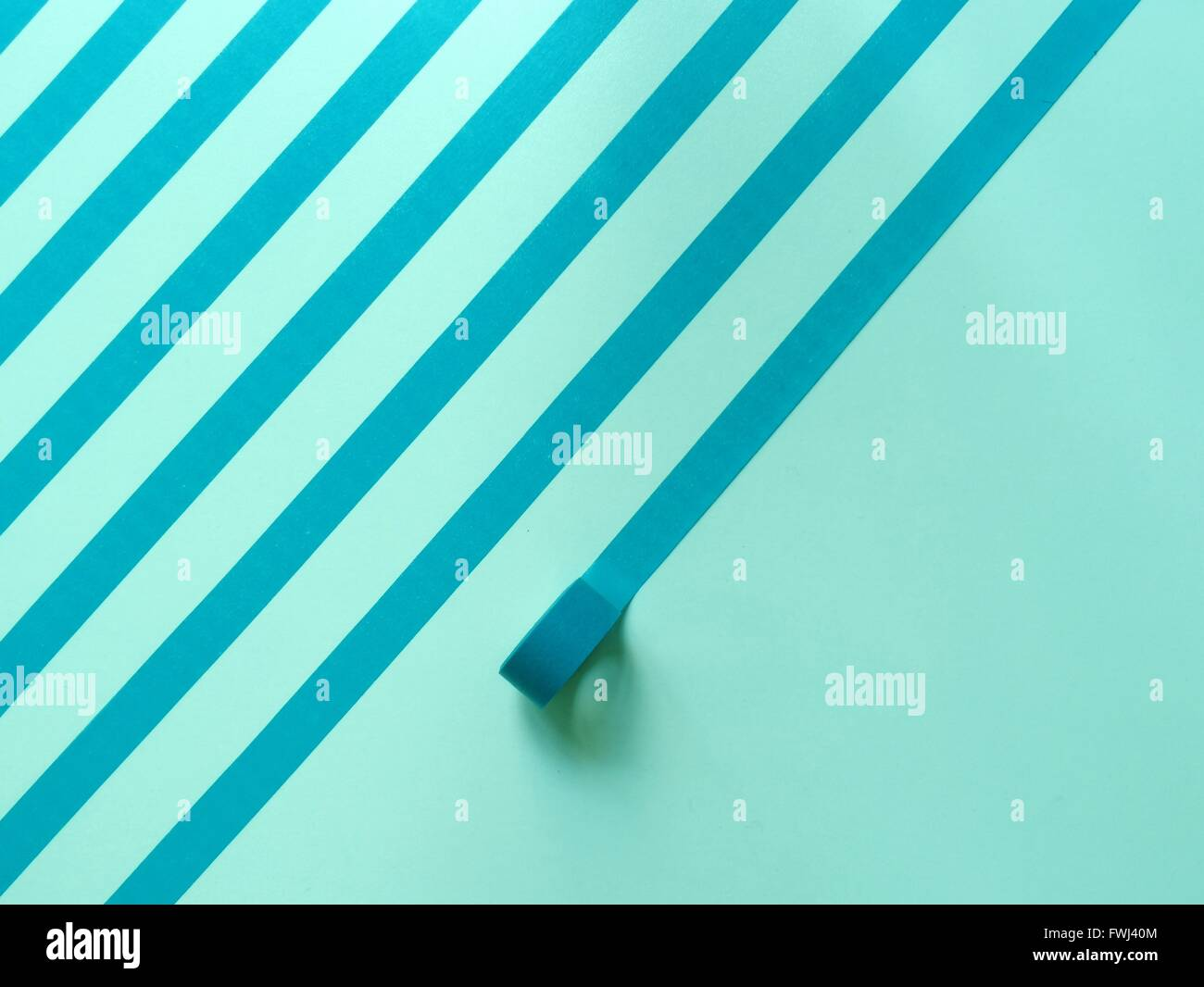 Striped Made From Adhesive Tape On Wall - Stock Image