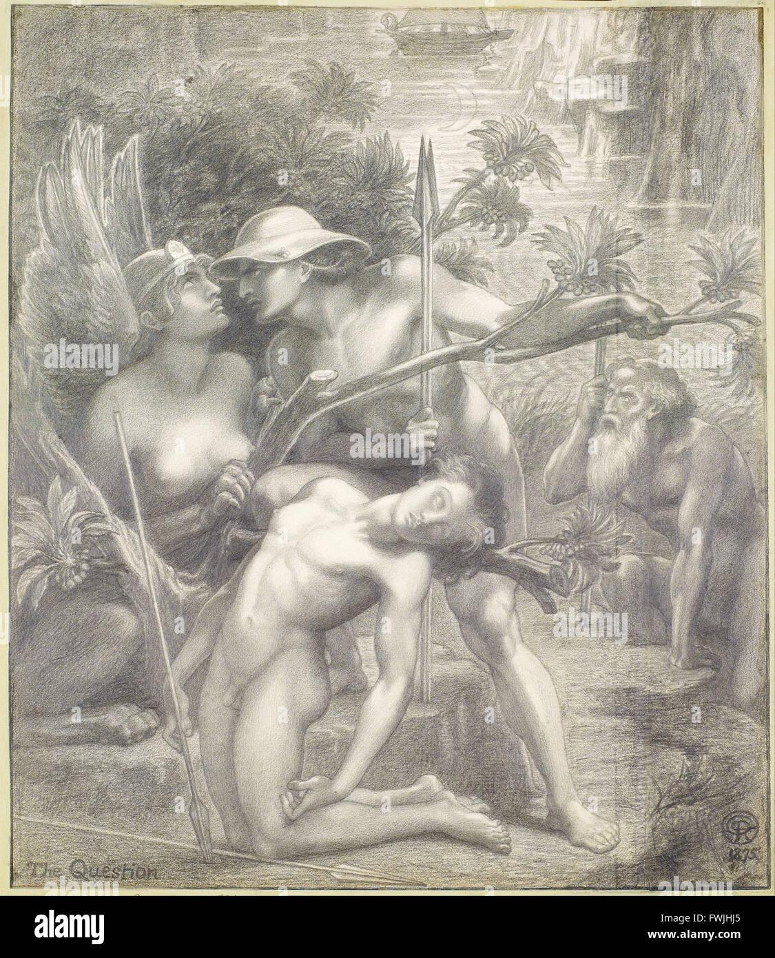 Dante Gabriel Rossetti - The Question, the Sphinx Stock Photo