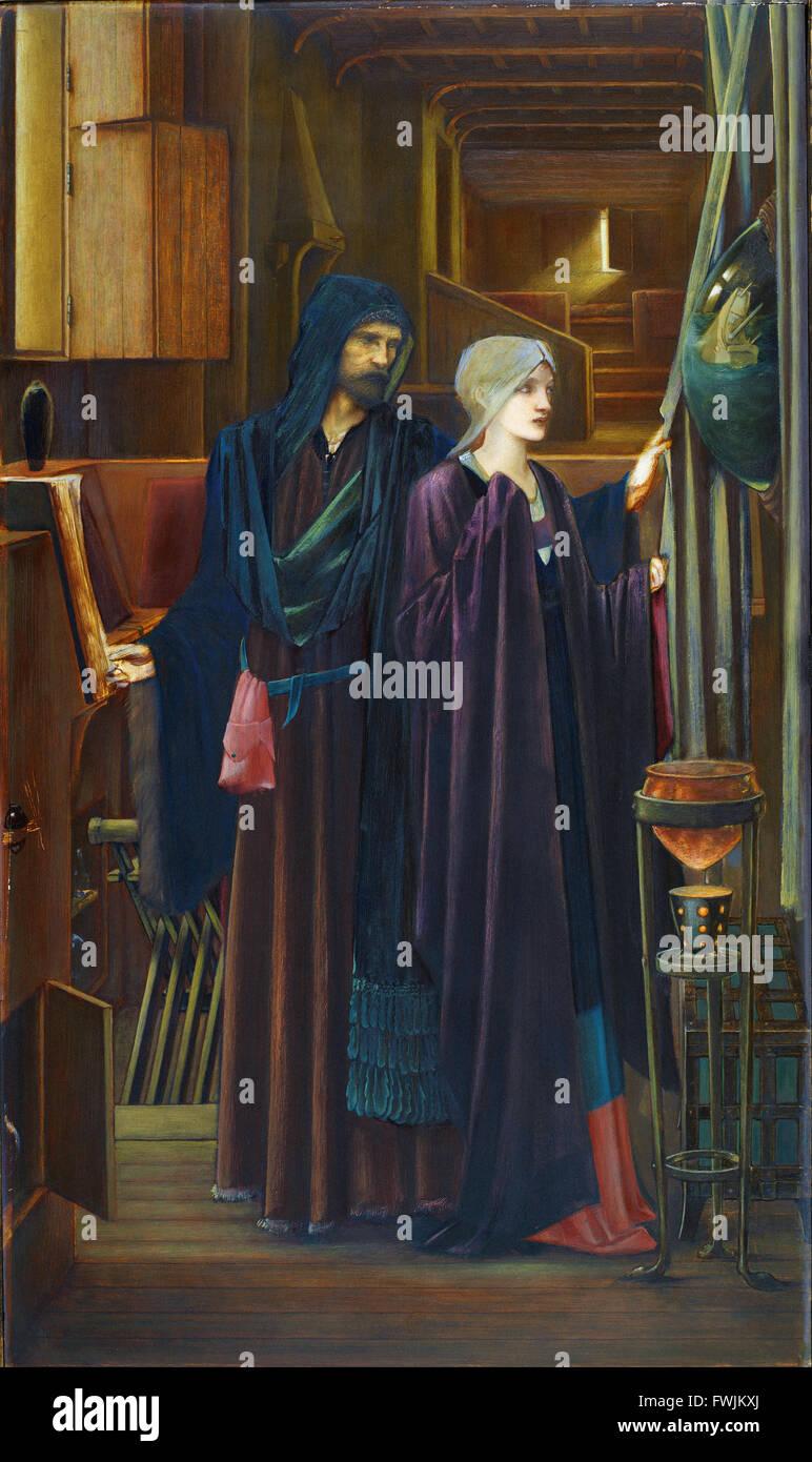 Edward Burne-Jones - The Wizard - Stock Image