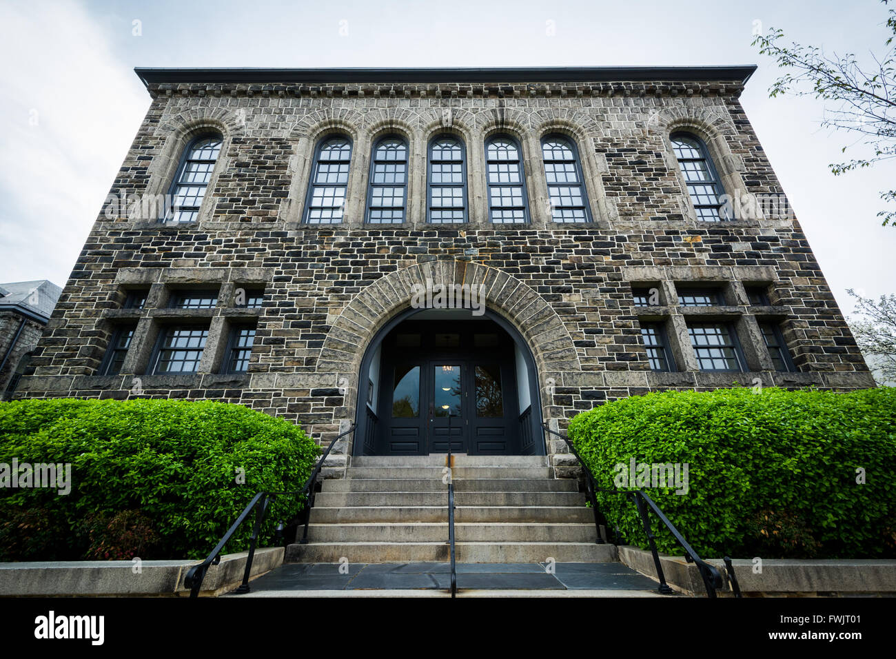 Old stone building in Bolton Hill, Baltimore, Maryland. - Stock Image
