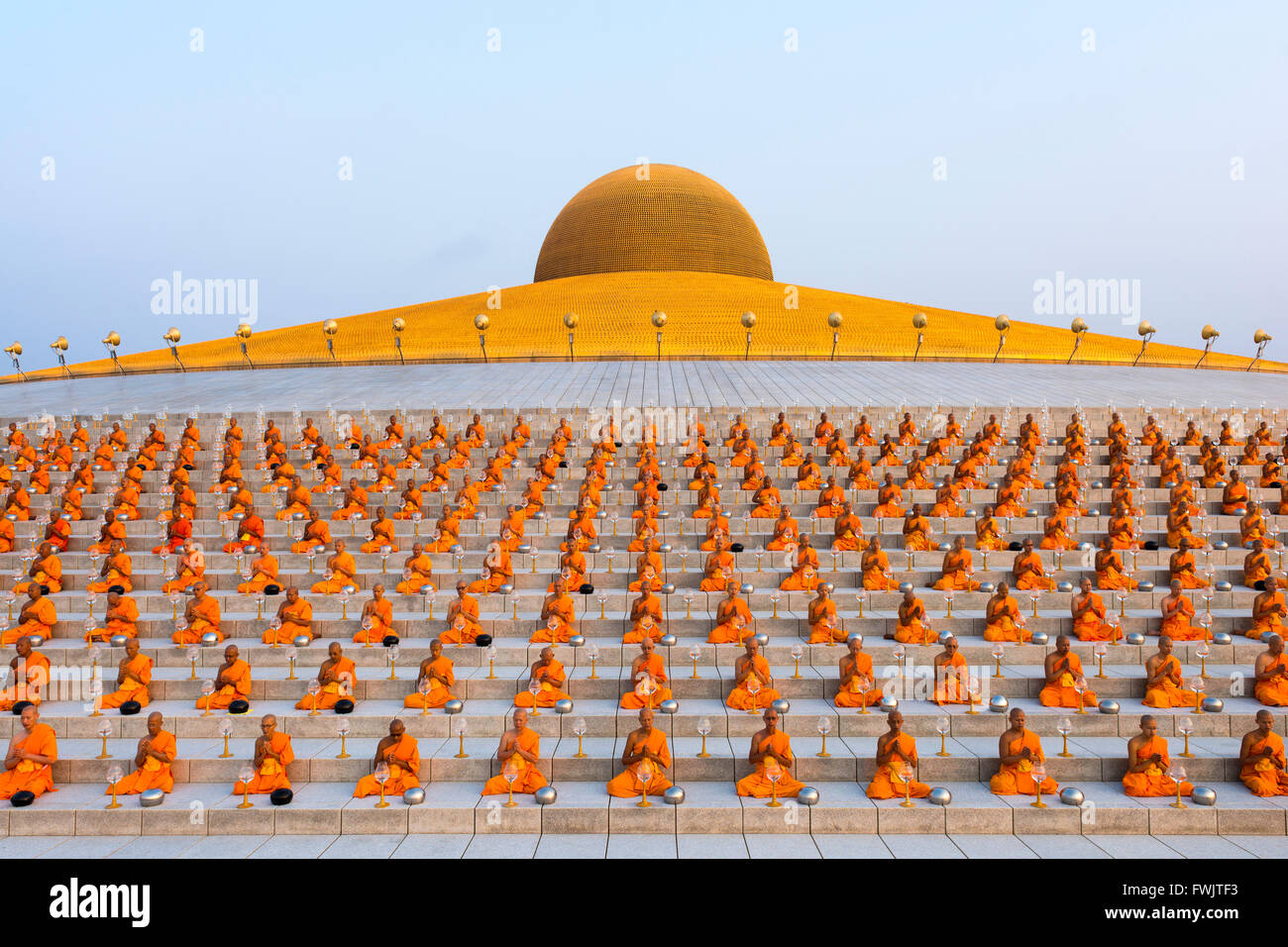 Wat Phra Dhammakaya Temple On Makha Bucha Day Or Magha Puja Day