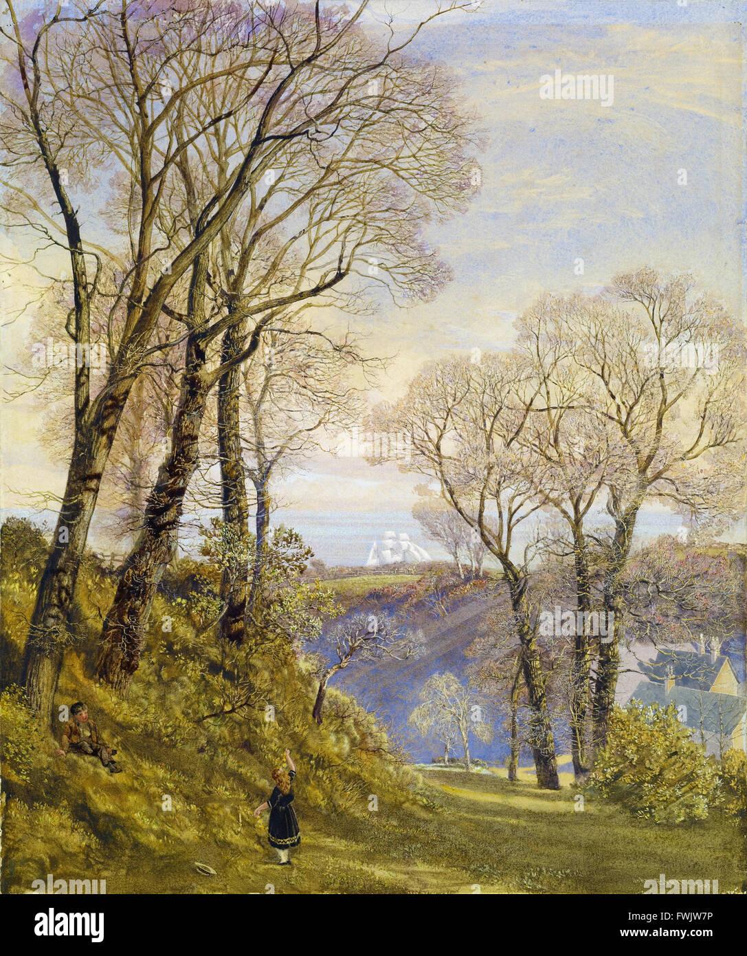 John Brett - February in the Isle of Wight - Birmingham Museum and Art Gallery - Stock Image