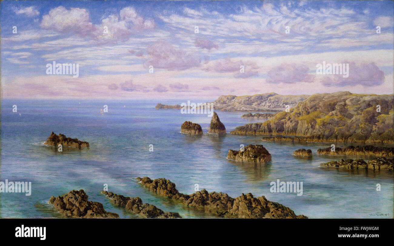 John Brett - Southern Coast of Guernsey - Birmingham Museum and Art Gallery - Stock Image