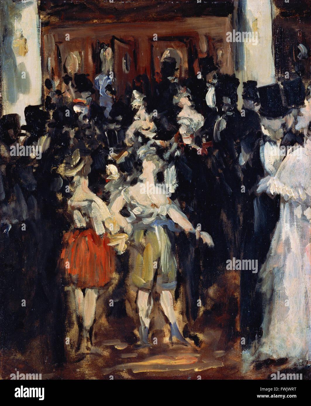 Edouard Manet - Masked Ball at the Opera - Bridgestone Museum of Art, Ishibashi Foundation - Stock Image