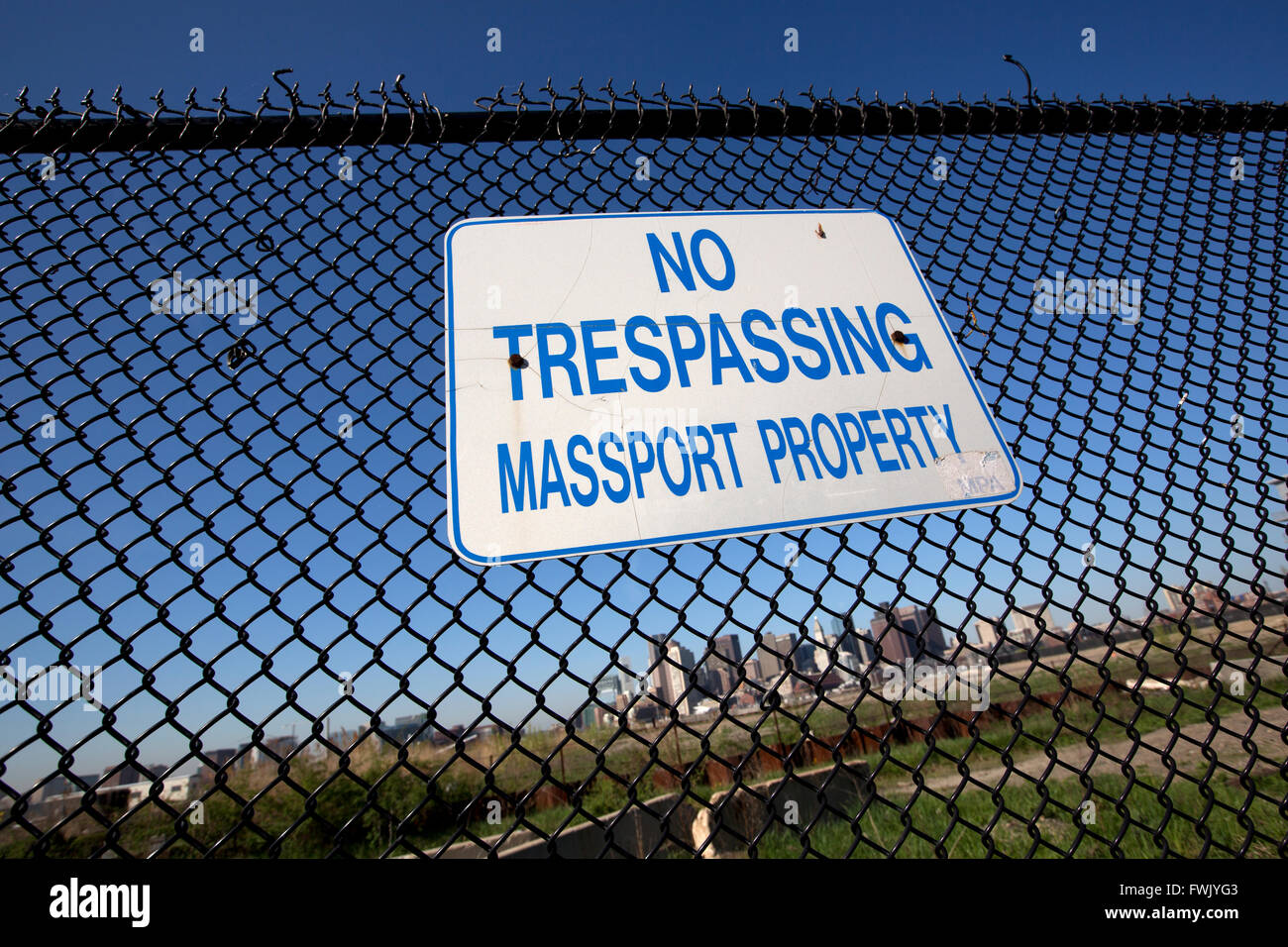 Vacant waterfront property, East Boston, Massachusetts - Stock Image