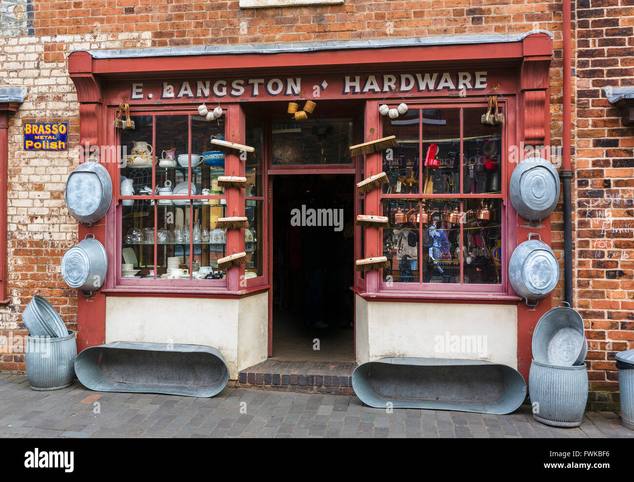 Hardware store at the Black Country Living Museum, Dudley, West Midlands, UK - Stock Image