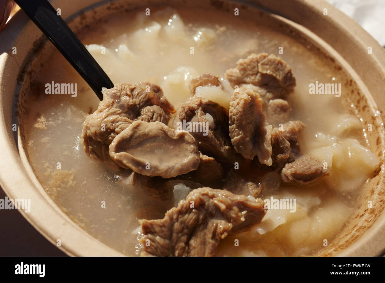 Navajo Mutton And Dumpling Soup From A Food Truck At Tuba City Stock