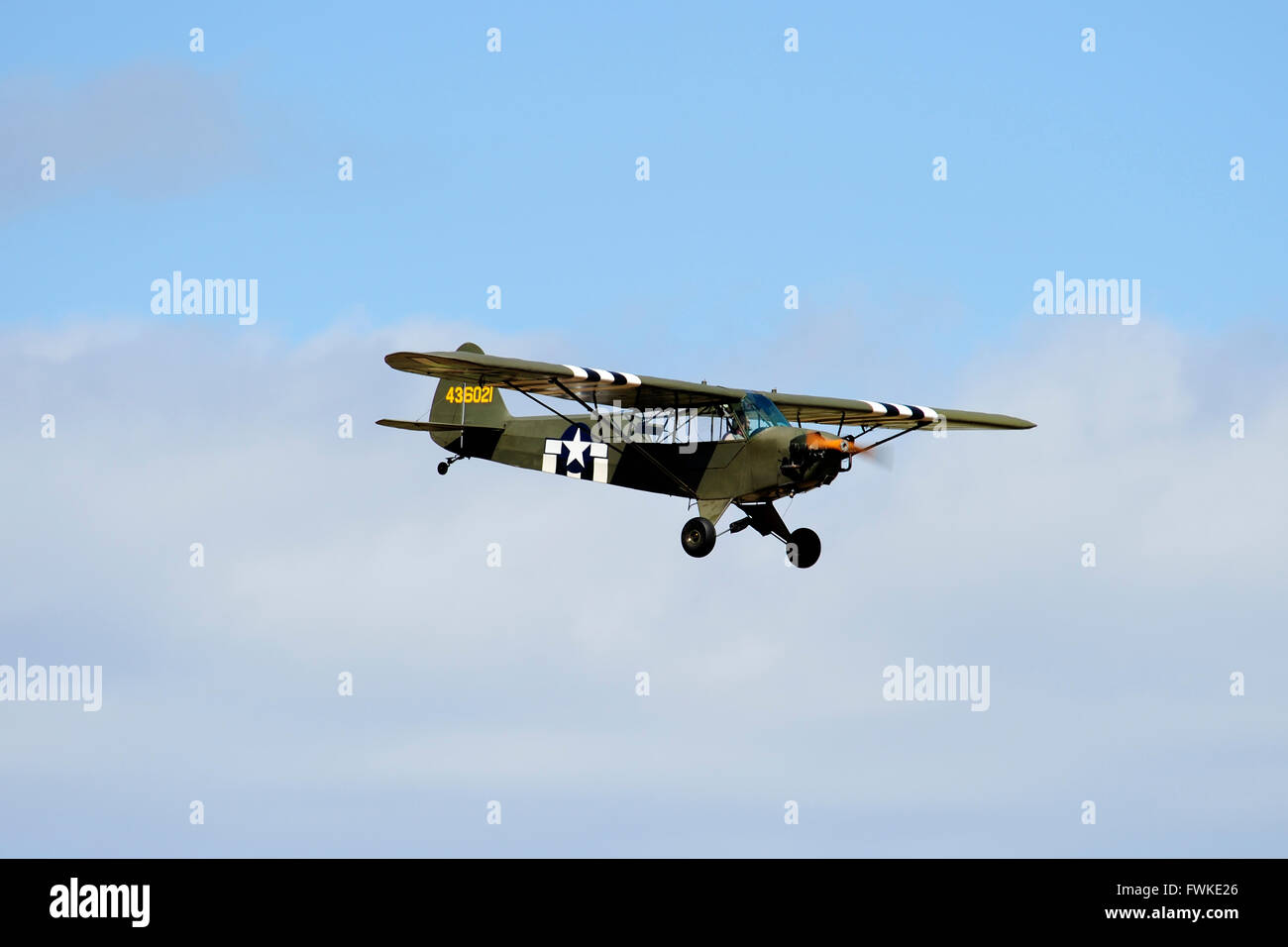 Piper J-3 Cub during its display at East Fortune Airshow 2011 - Stock Image