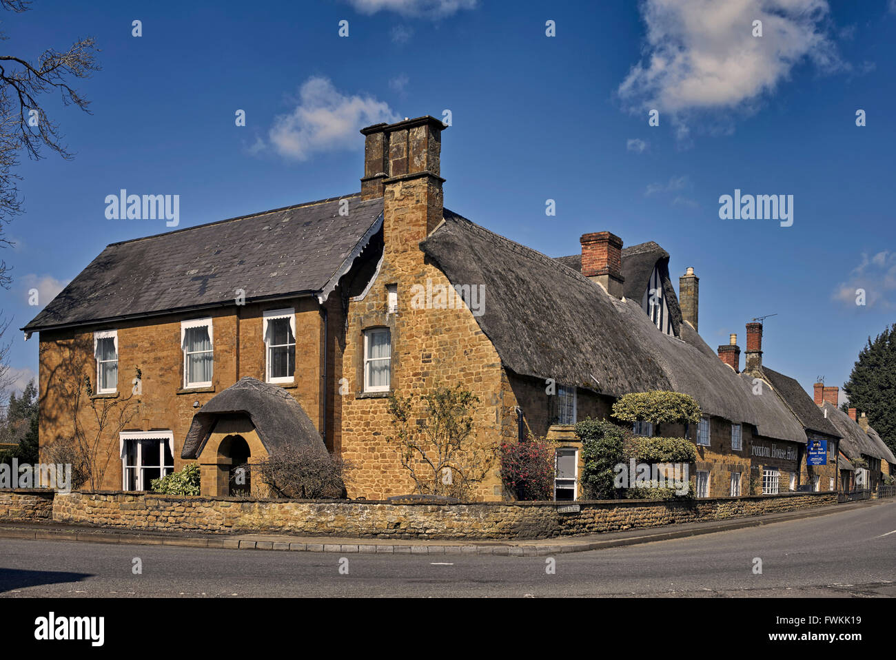 Award winning 17th century Wroxton House Hotel Nr. Banbury Oxfordshire England UK - Stock Image