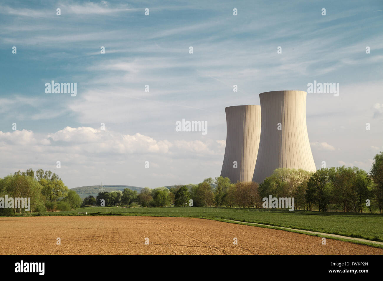 Nuclear power station Grohnde - Stock Image