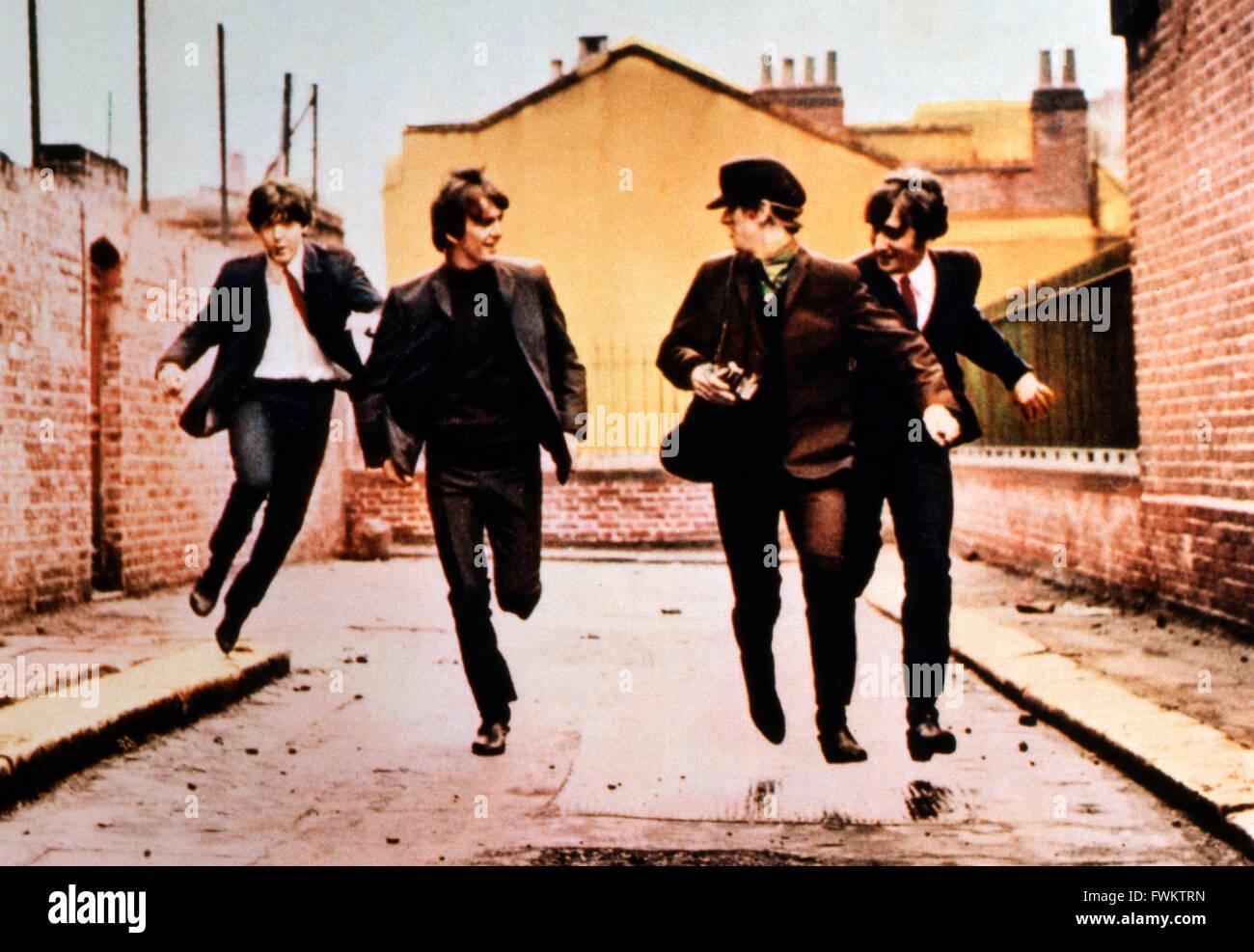 A Hard Day's Night, aka: Yeah Yeah Yeah, Großbritannien 1964, Regie: Richard Lester, Darsteller: The Beatles: - Stock Image