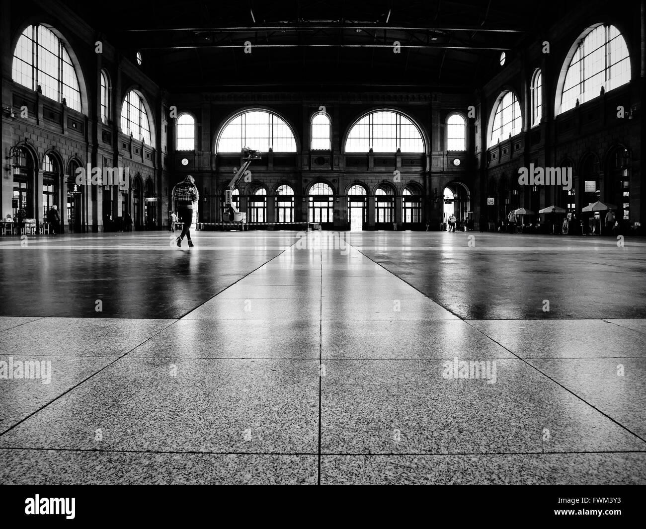 Interior Of Zurich Hauptbahnhof - Stock Image