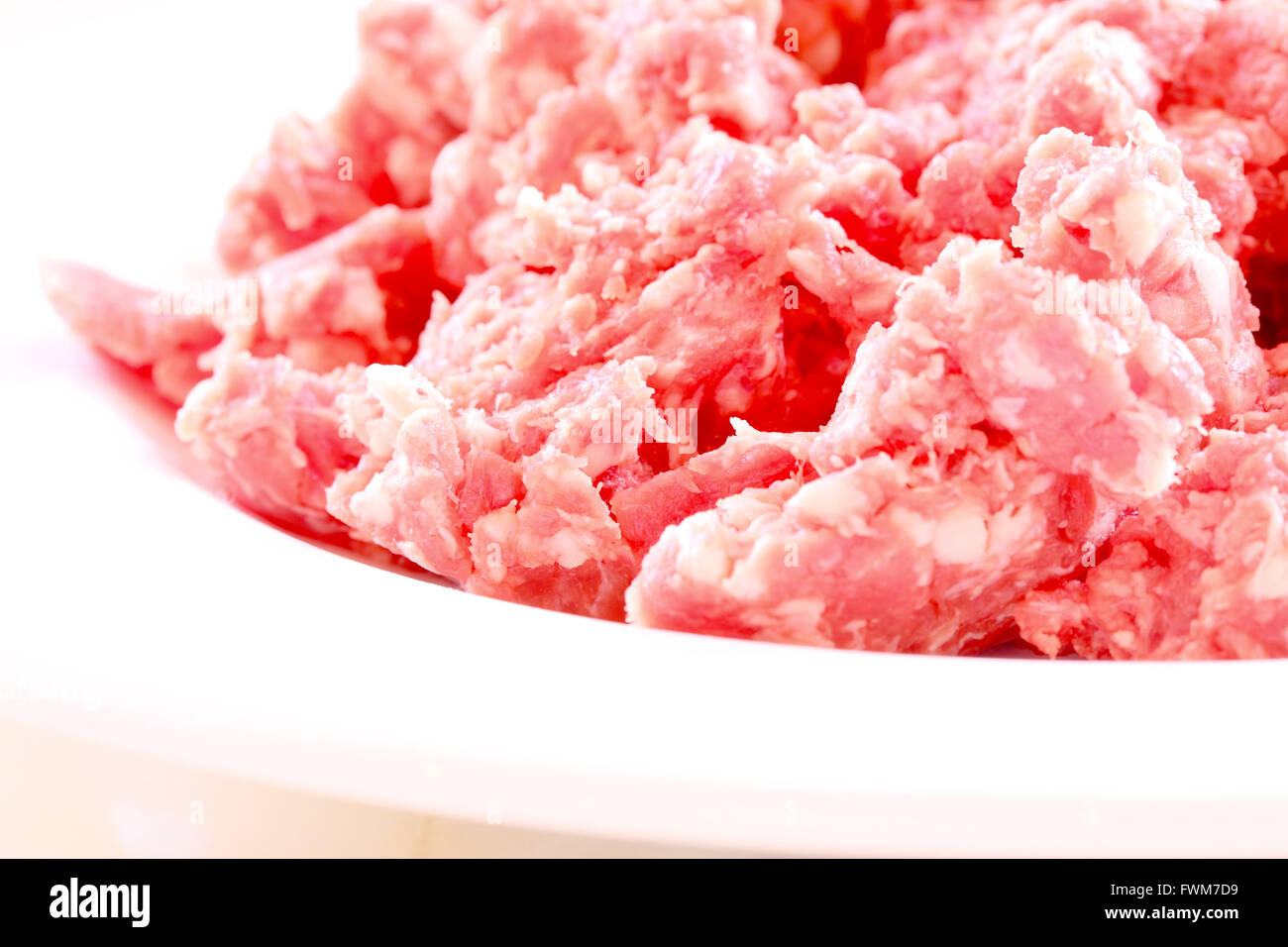 Beef mince on a plate. - Stock Image