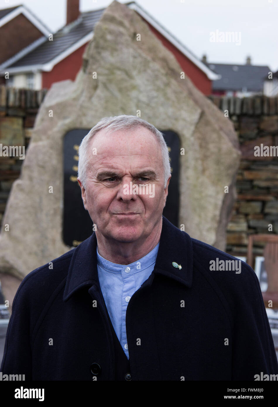 Raymond McCartney Sinn Fein MLA at the 100th commemoration of the Easter Rising in 1916 at Shantallow, Derry - Stock Image