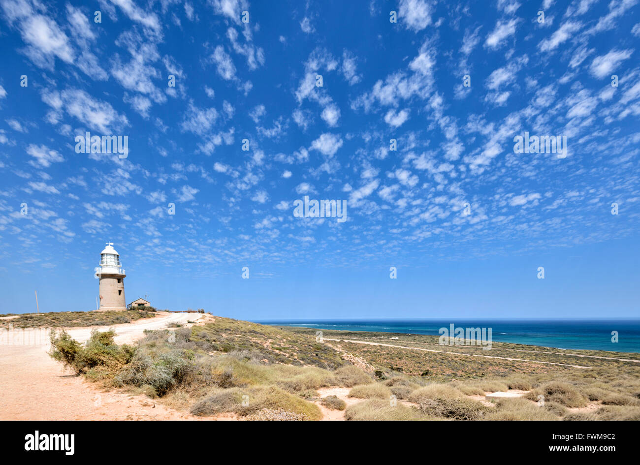Vlaming Head Lighthouse, Exmouth, Western Australia, WA, Australia - Stock Image