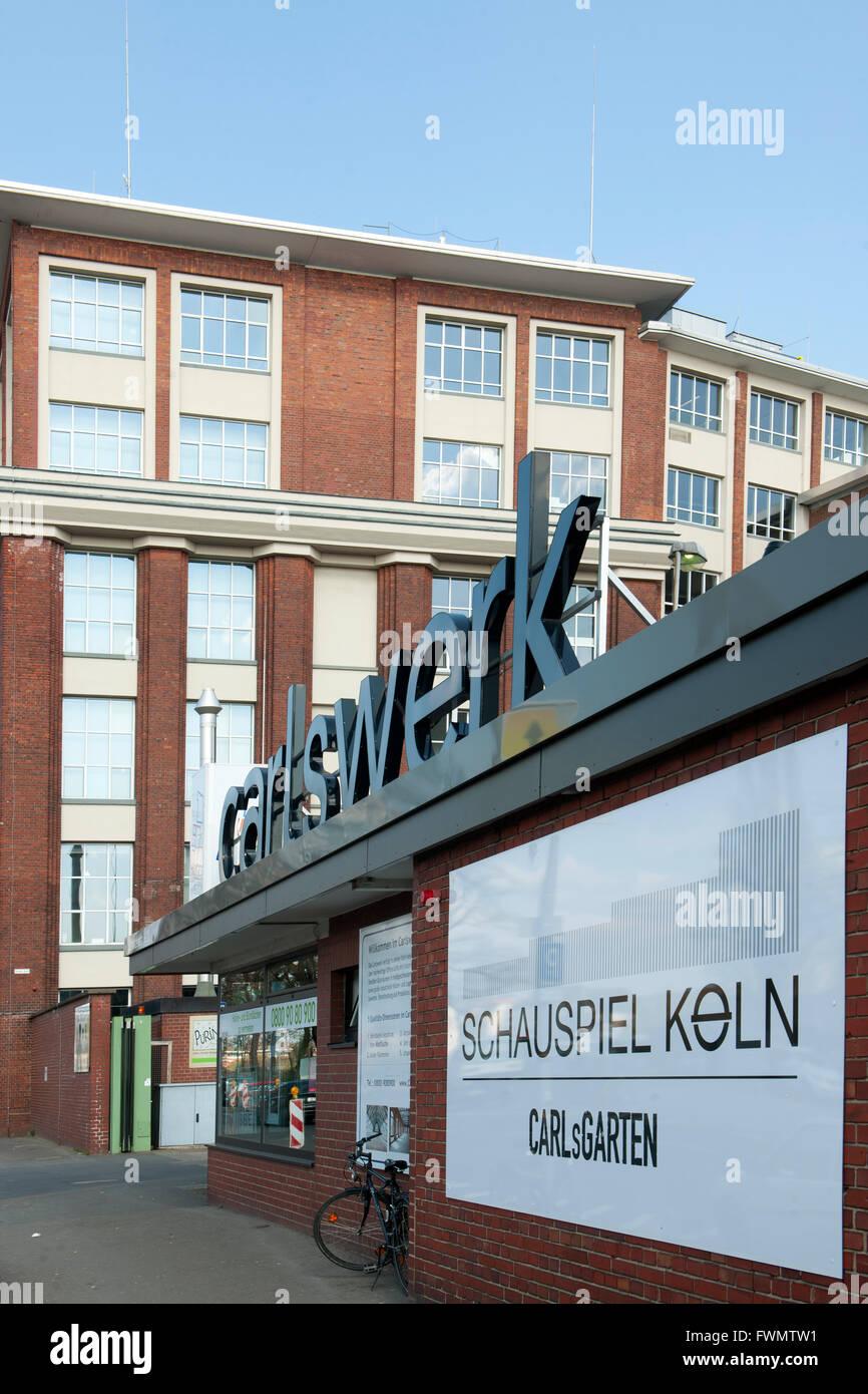 Köln, Mülheim, Schanzenstrasse, das Carlswerk in Köln-Mülheim war eine Produktionsstätte - Stock Image