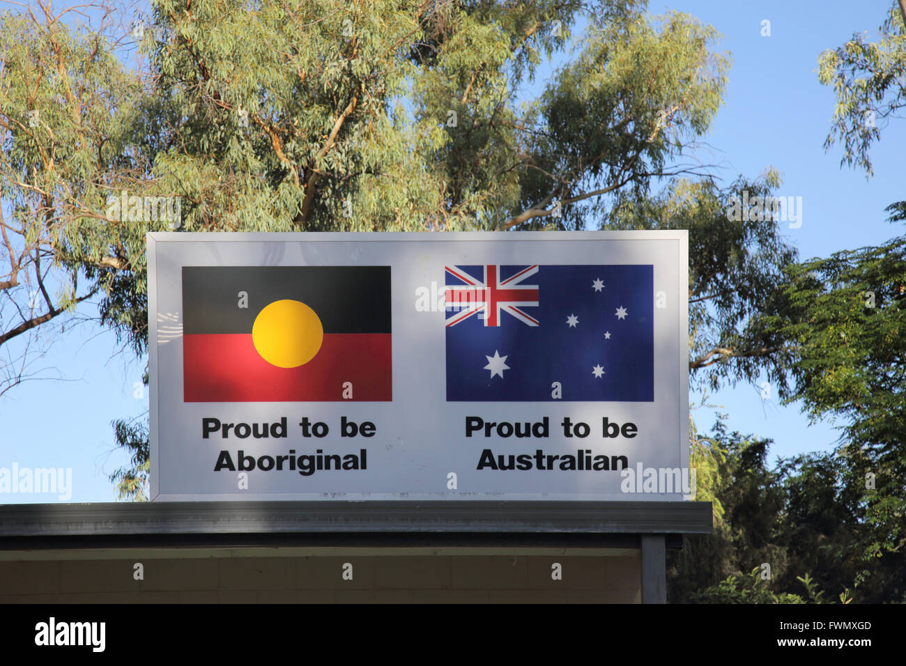 flags in alice springs in the northern territory of australia - Stock Image
