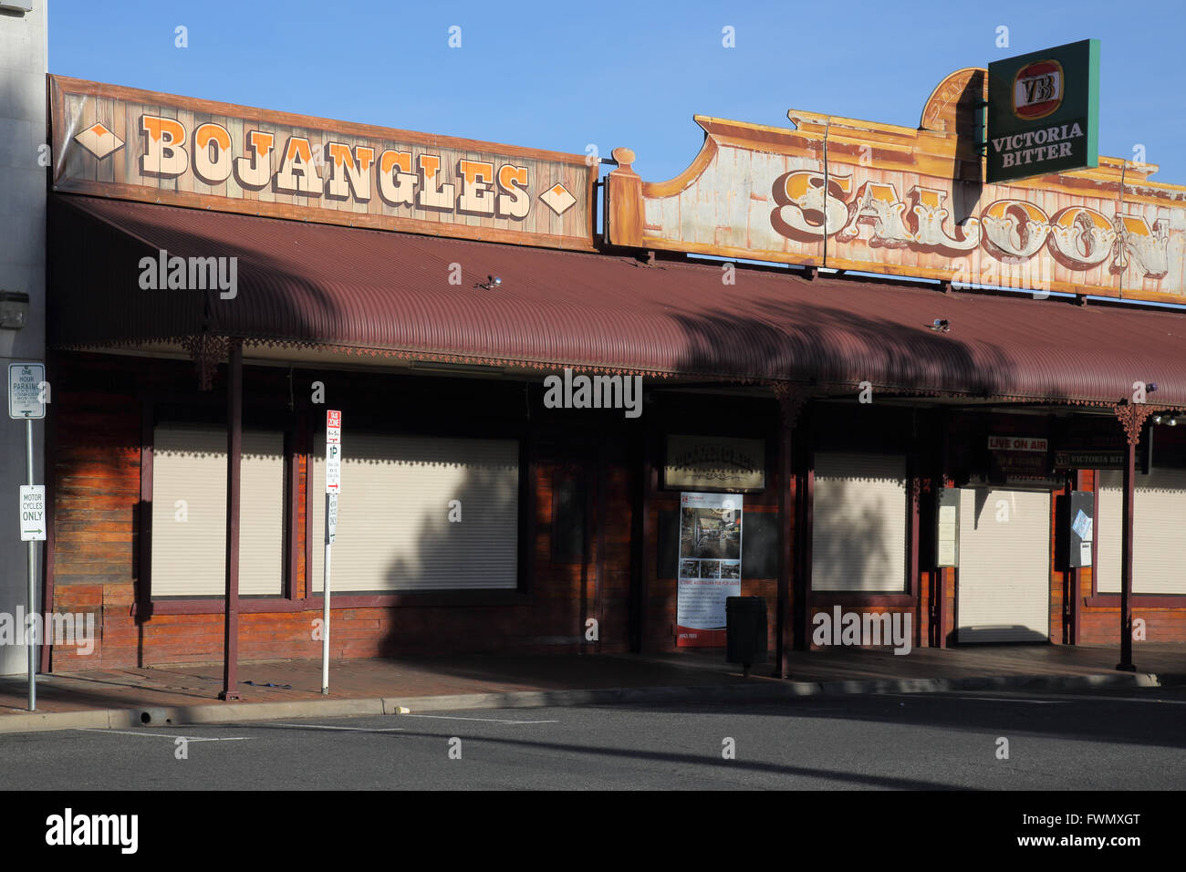 bojangles saloon and bar  in alice springs in the northern territory of australia - Stock Image