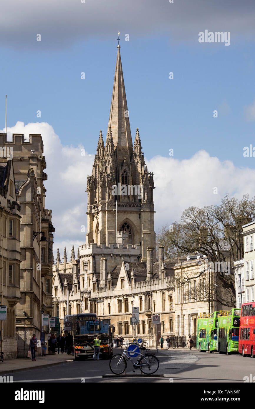 University Church of St Mary the Virgin, Oxford. - Stock Image