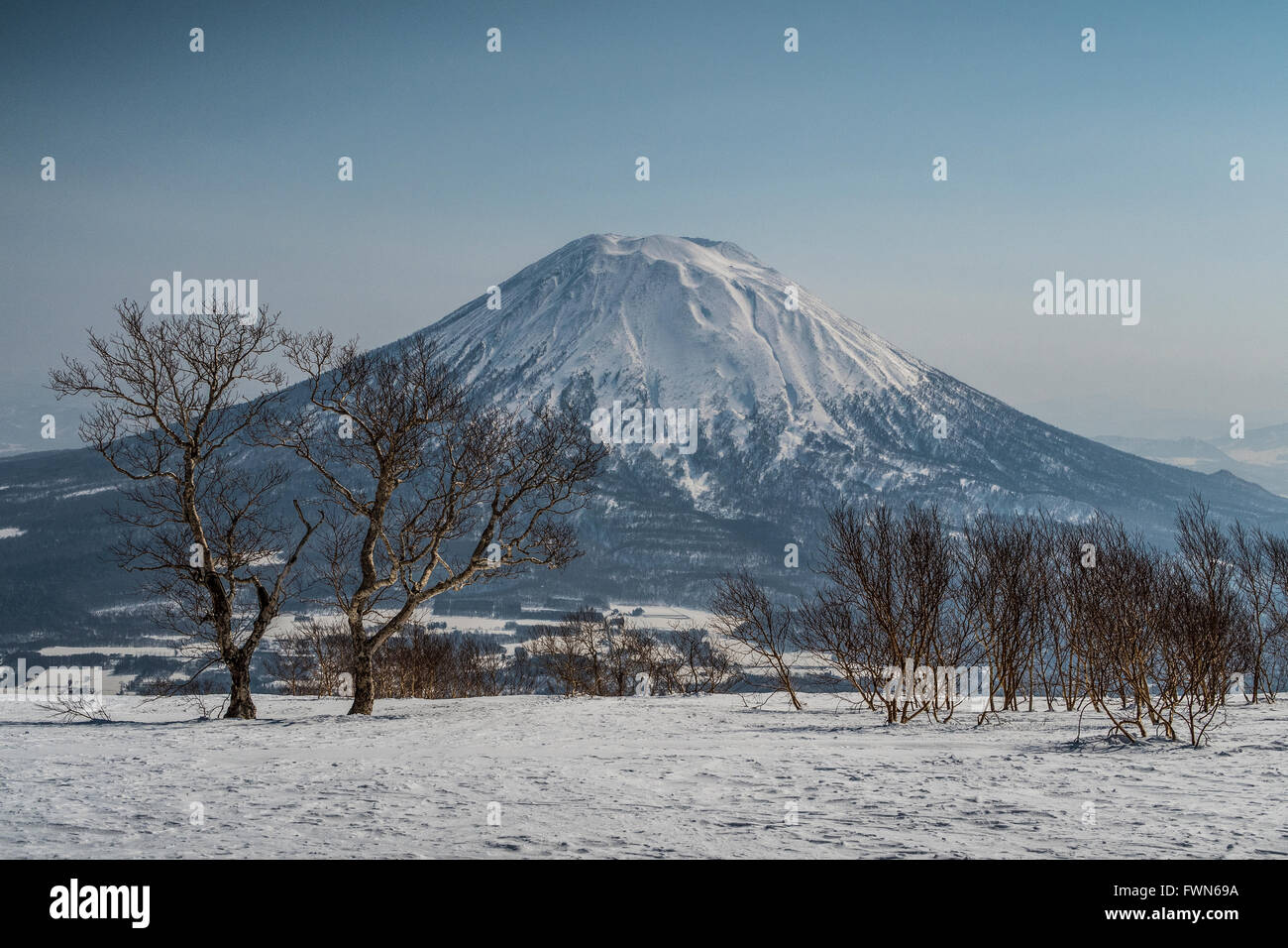 Mount Yōtei, an inactive volcano located in Shikotsu-Toya National Park, Hokkaidō, Japan. - Stock Image