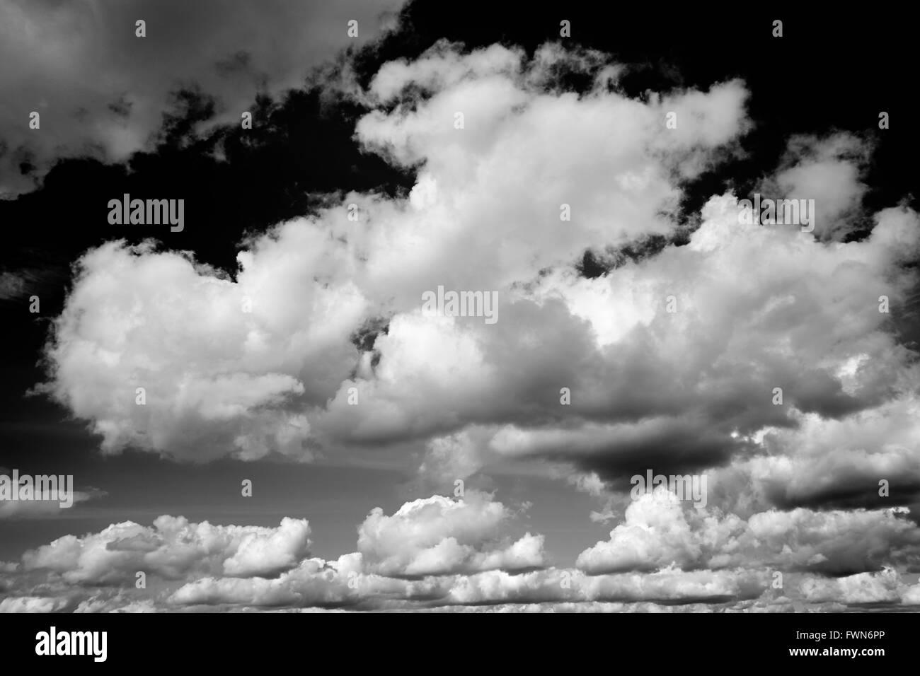 Cumulonimbus cloud formations against a bright sky. UK. - Stock Image