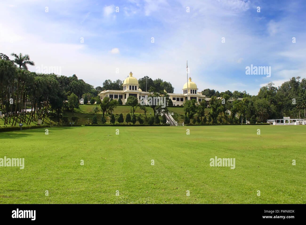 Park in Malaysia old Royal Palace during its public open days in Kuala Lumpur, Malaysia - Stock Image