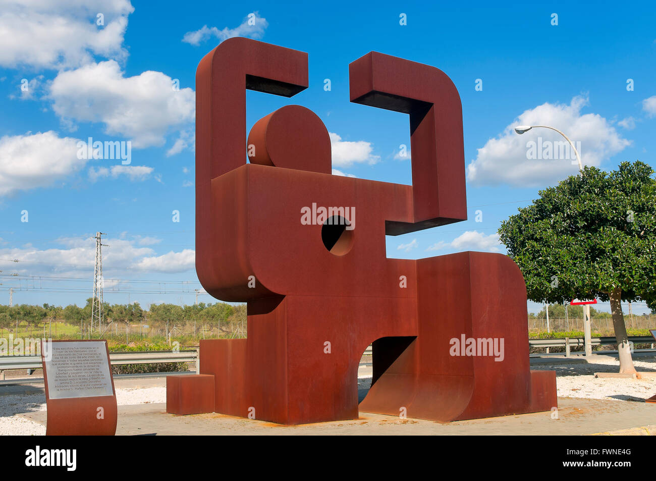 Memorial to prisoners of the Spanish Civil War, Los Merinales, Dos Hermanas, Seville province, Region of Andalusia, - Stock Image
