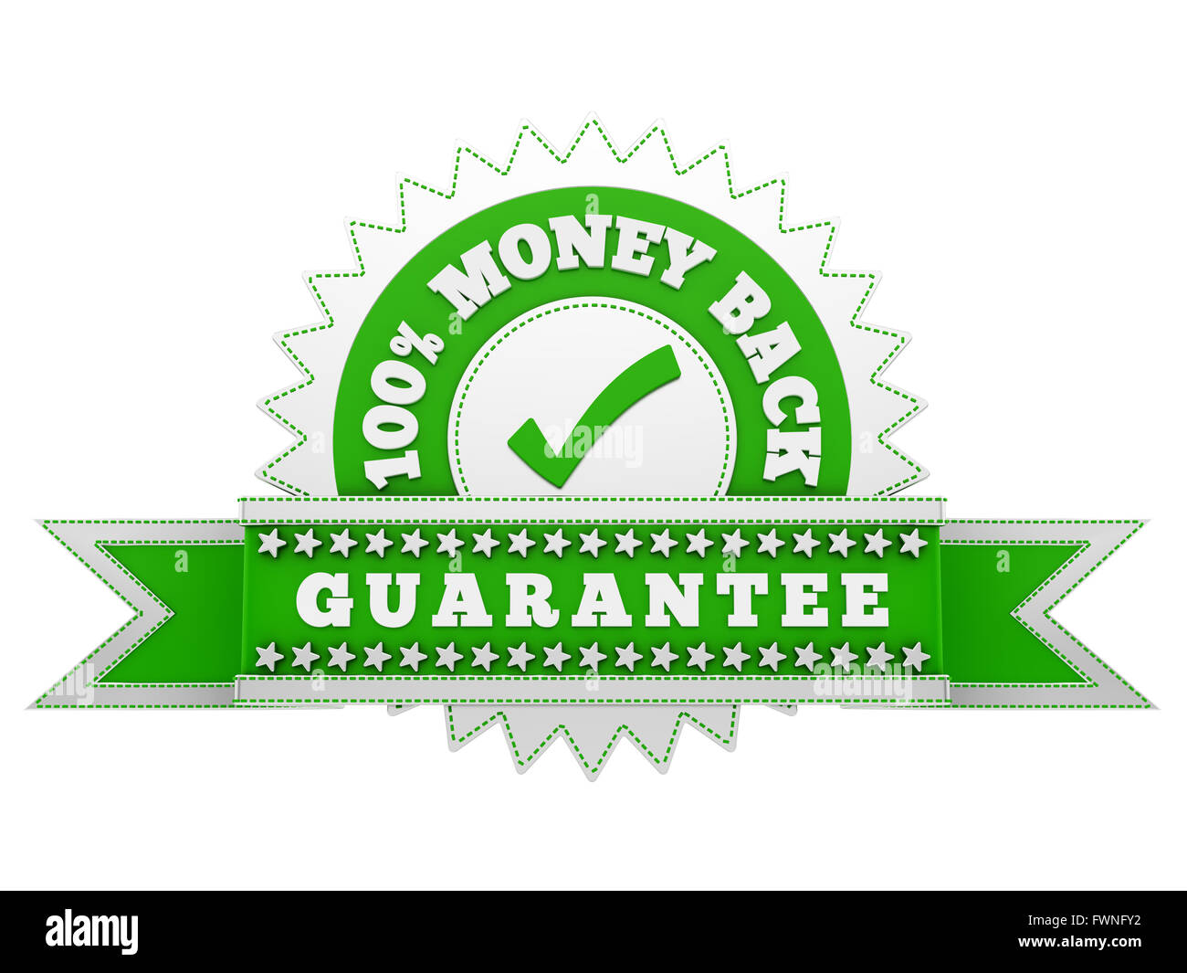 render of Satisfaction sign, isolated on white - Stock Image