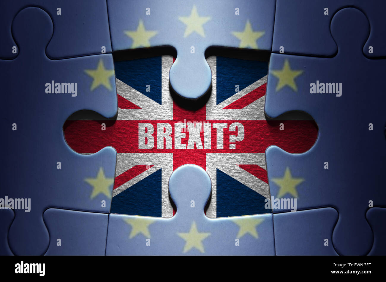 Brexit question - Stock Image