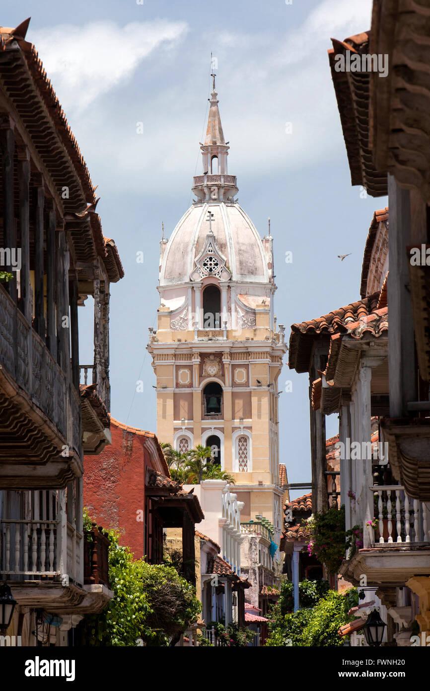 Metropolitan Cathedral Basilica of Saint Catherine of Alexandria in Cartagena de Indias - Stock Image