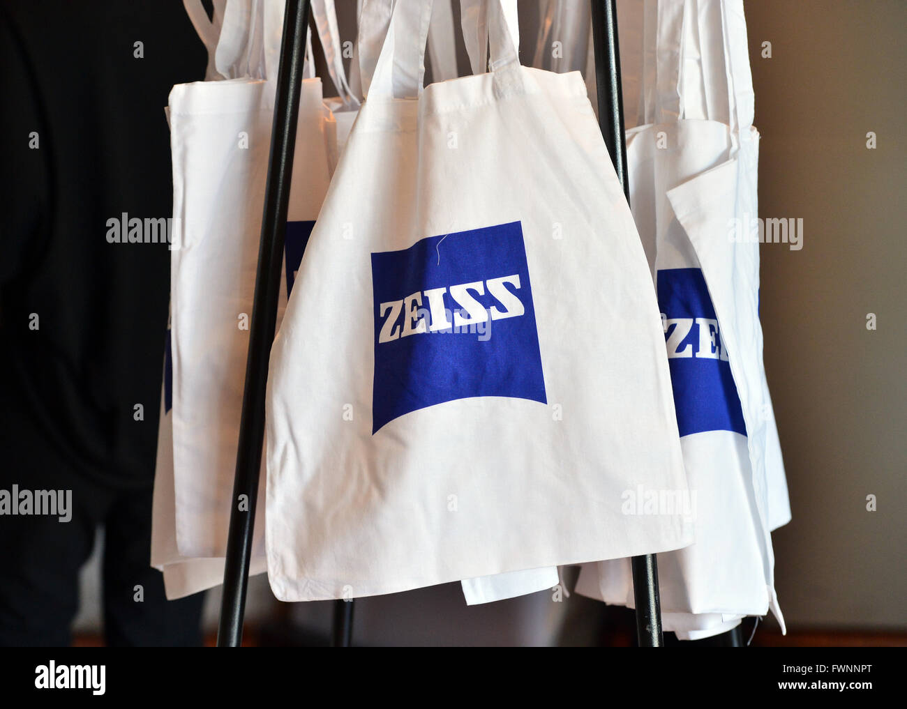 Weimar, Germany  6th Apr, 2016  Bags with the Carl Zeiss