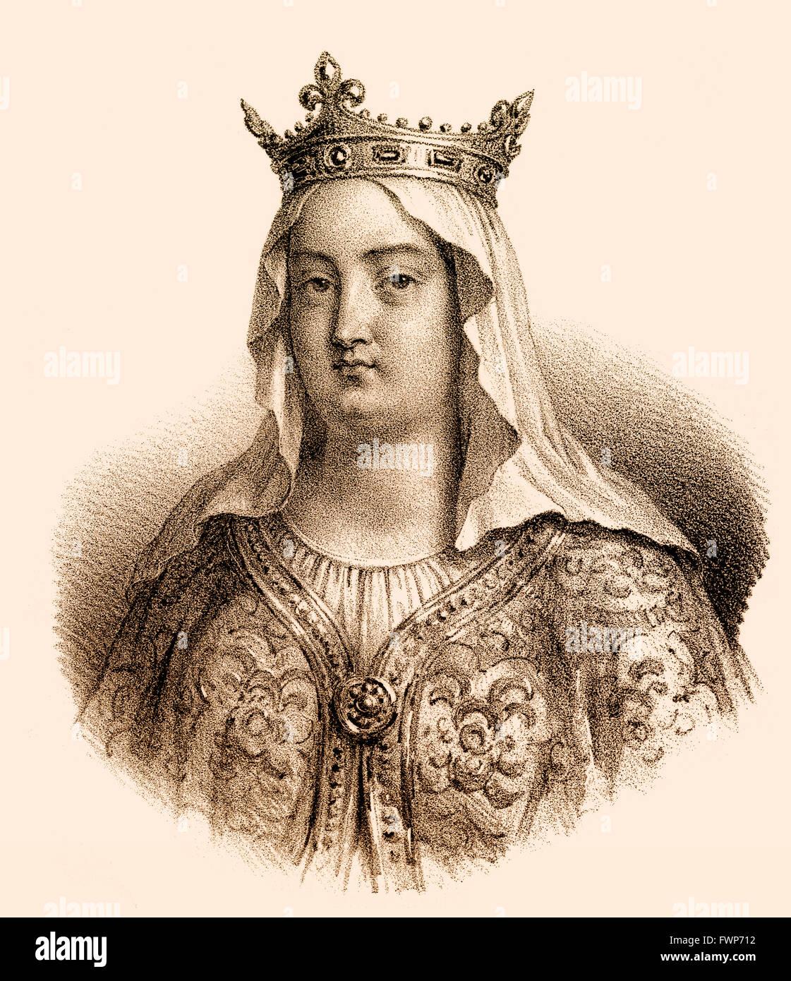 Fredegund, Fredegunda, Fredegunde, Fredegundis, Frédégonde, c. 545-597, the Queen consort of Chilperic I, the Merovingian Franki Stock Photo