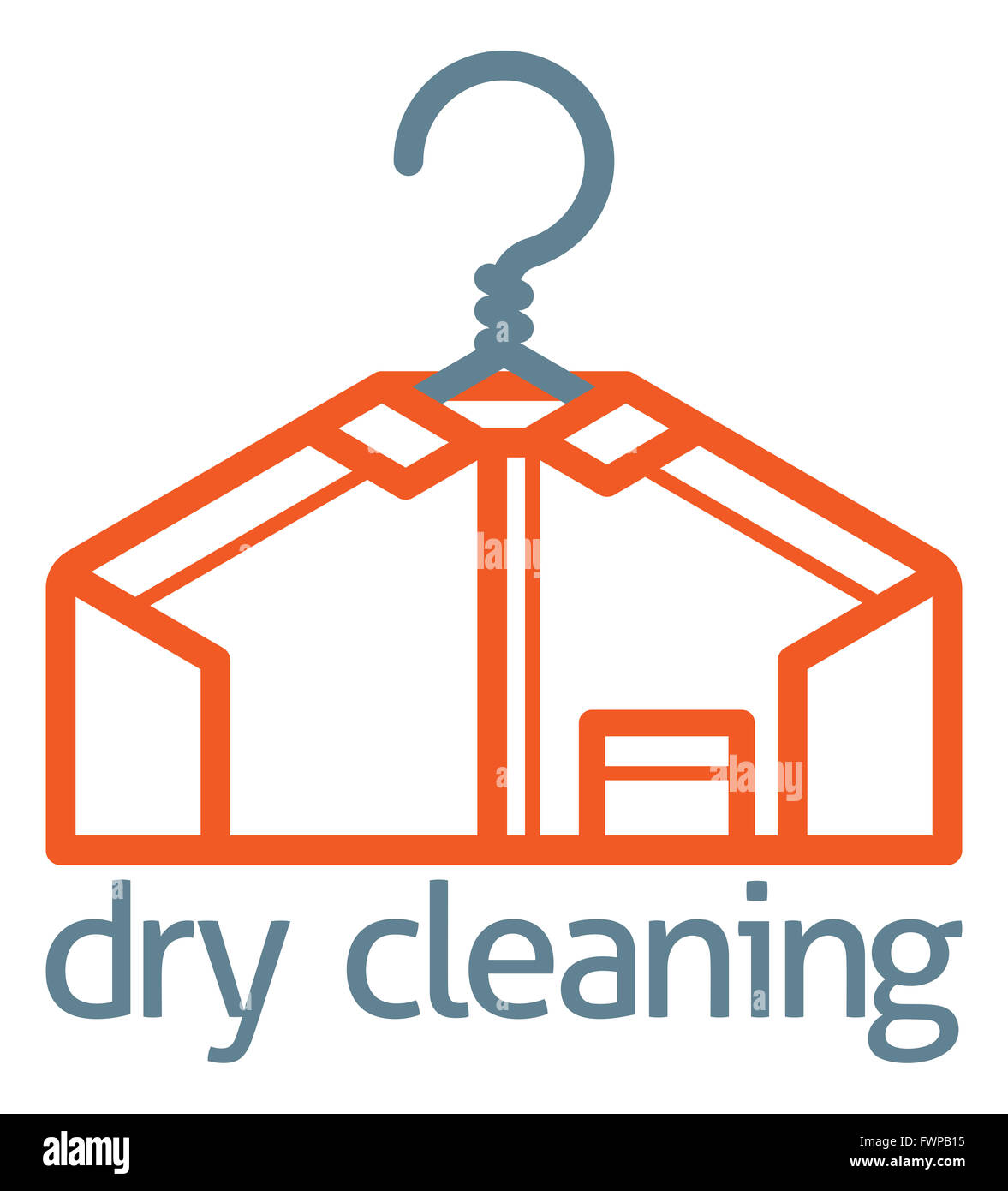 A Dry Cleaning Clothes Hanger Shirt Concept Icon Of A Stylised Shirt