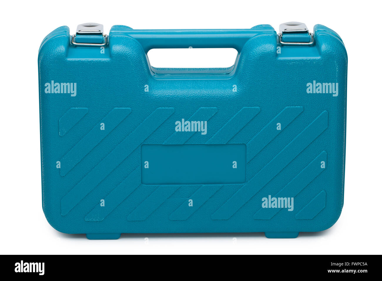 Blue toolbox isolated over white background Stock Photo