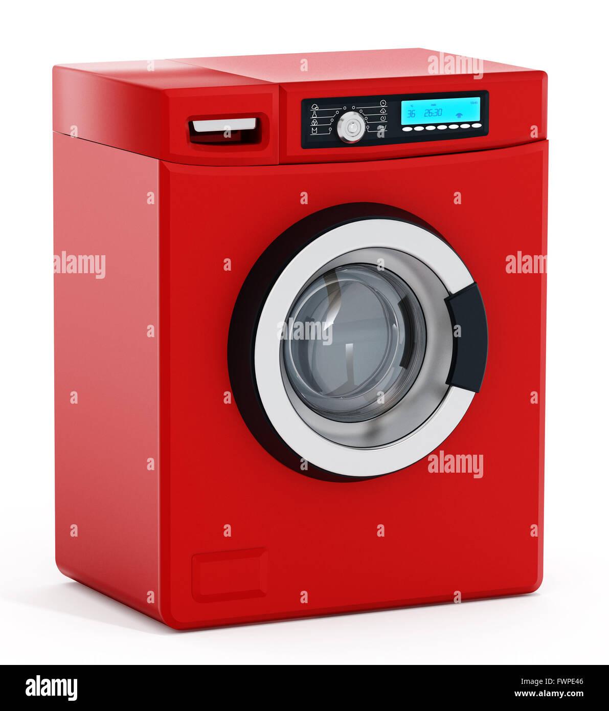 Washing Machine Isolated On The White Background Stock
