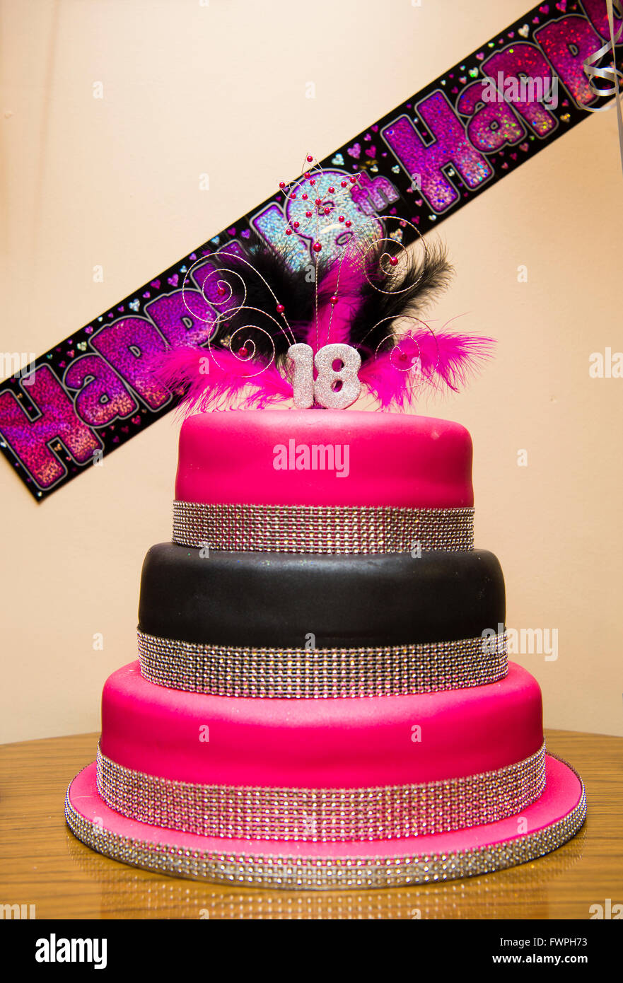A Teenage Girls 18th Birthday Party Pink Cake UK