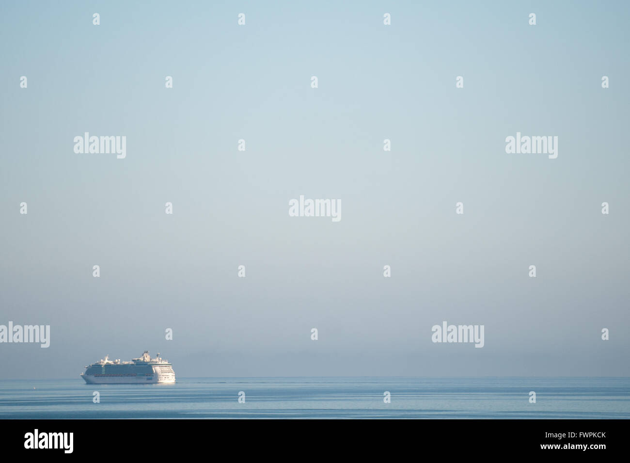 Cruise liner Independence of the Seas cruising on the Irish Sea, Ireland. - Stock Image