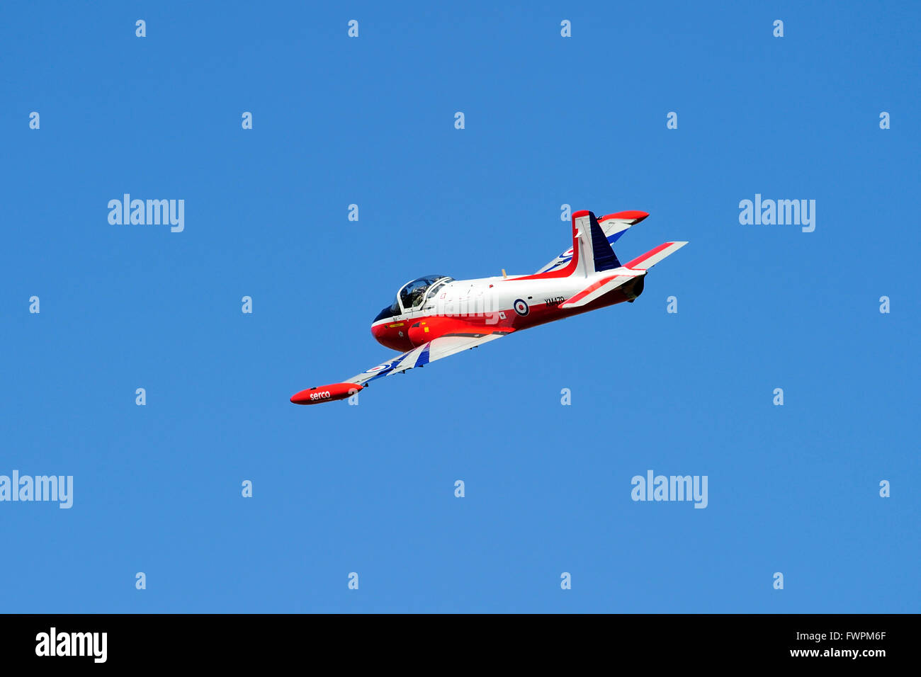 Jet Provost T3A G-BVEZ,(formerly XM479) during its display at East Fortune Airshow 2011 Stock Photo