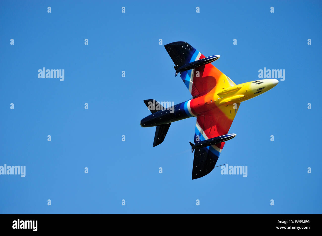 "Hawker Hunter F58 G-PSST ""Miss Demeanour""  during its display at East Fortune Airshow 2011 Stock Photo"