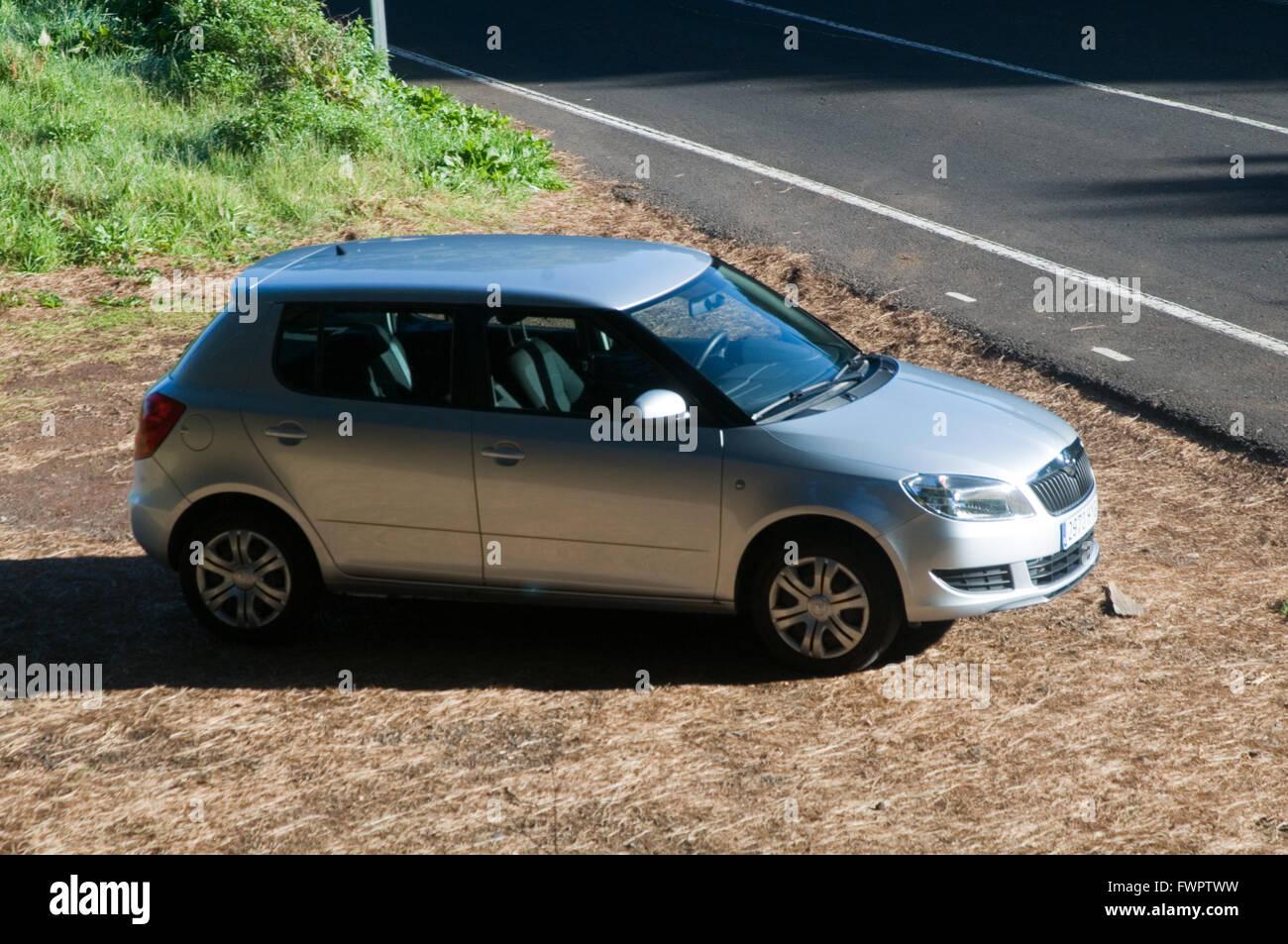 skoda fabia small family car Polish cars maker makers VW volkswagen - Stock Image