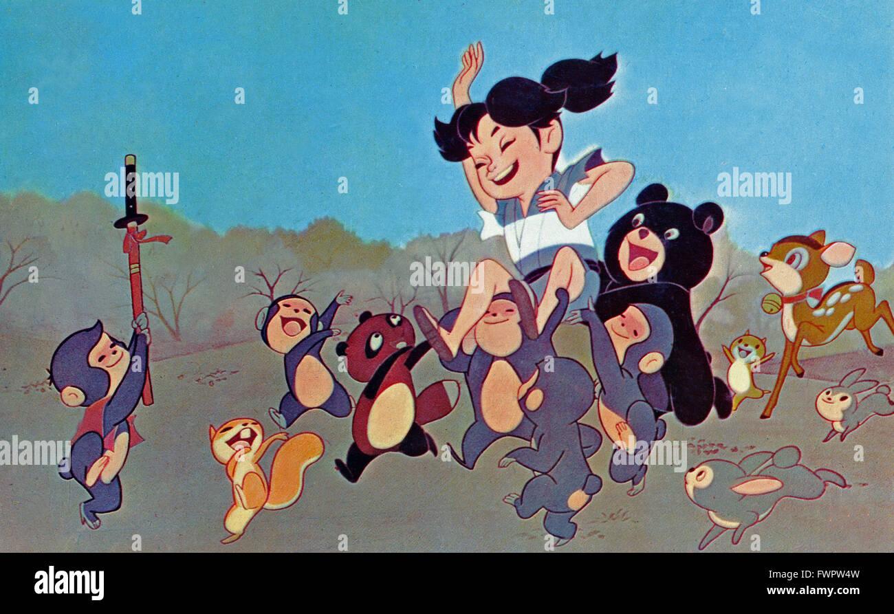 Shonen Sarutobi Sasuke, aka: Magic Boy, aka: Der Zauberer und die Banditen, Zeichentrickfilm, Japan 1959, Regie: - Stock Image