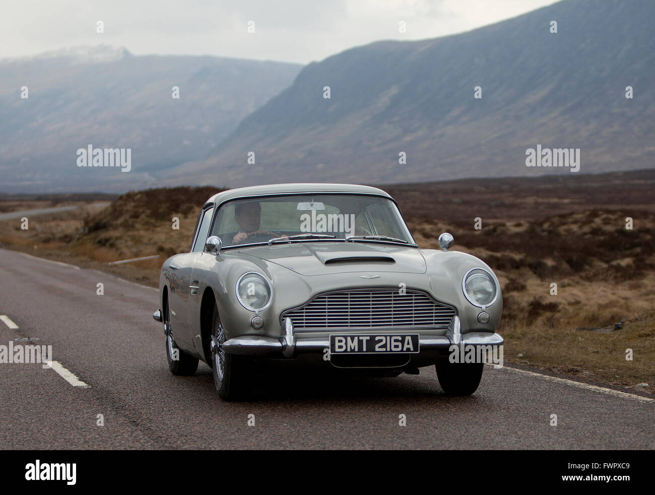 The Aston Martin DB4 Used In The Filming Of The James Bond Film, Skyfall In  Glencoe, Scotland.