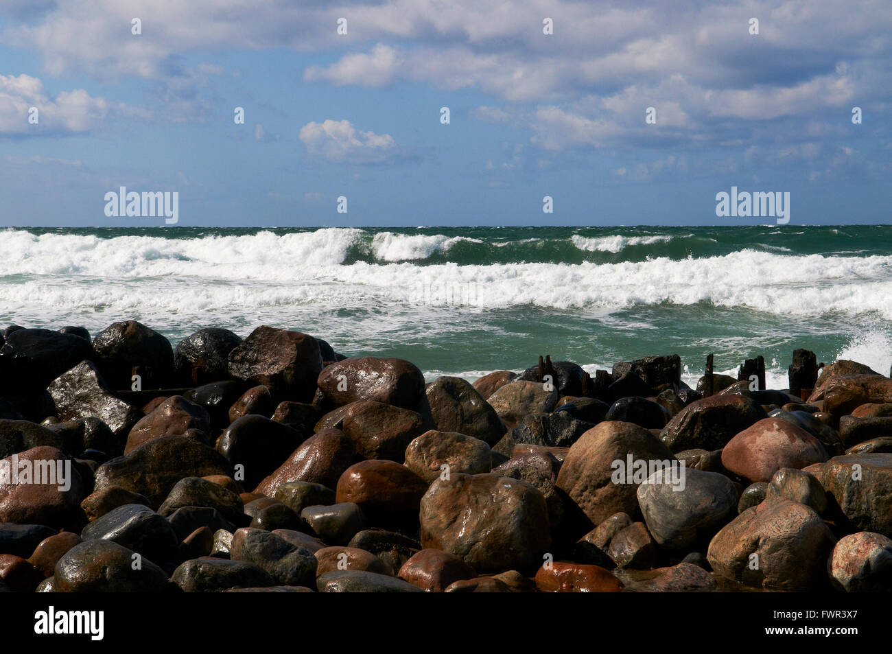 Beach at Tisvildeleje, Denmark - Stock Image