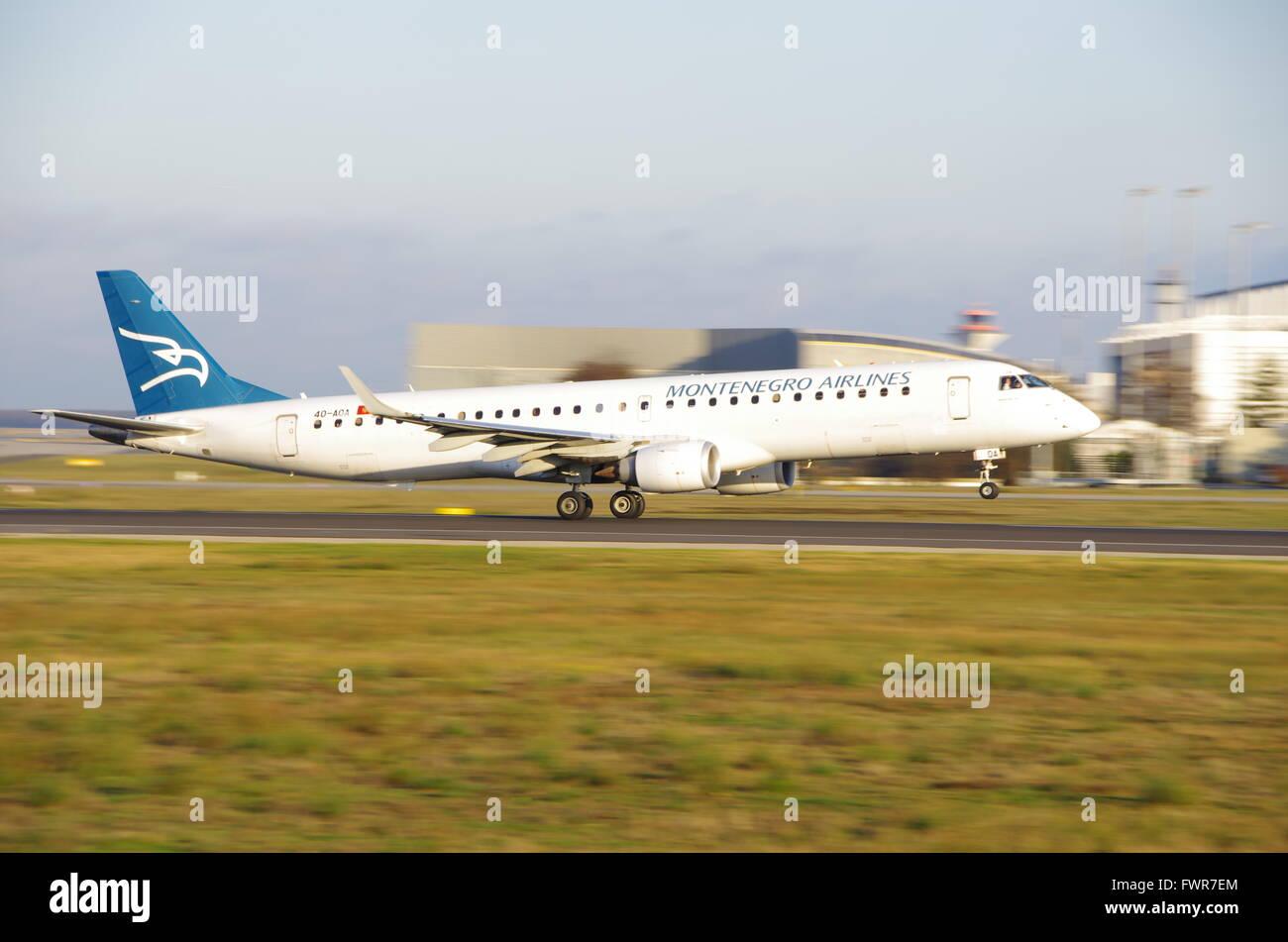 Montenegro Airlines Stock Photo