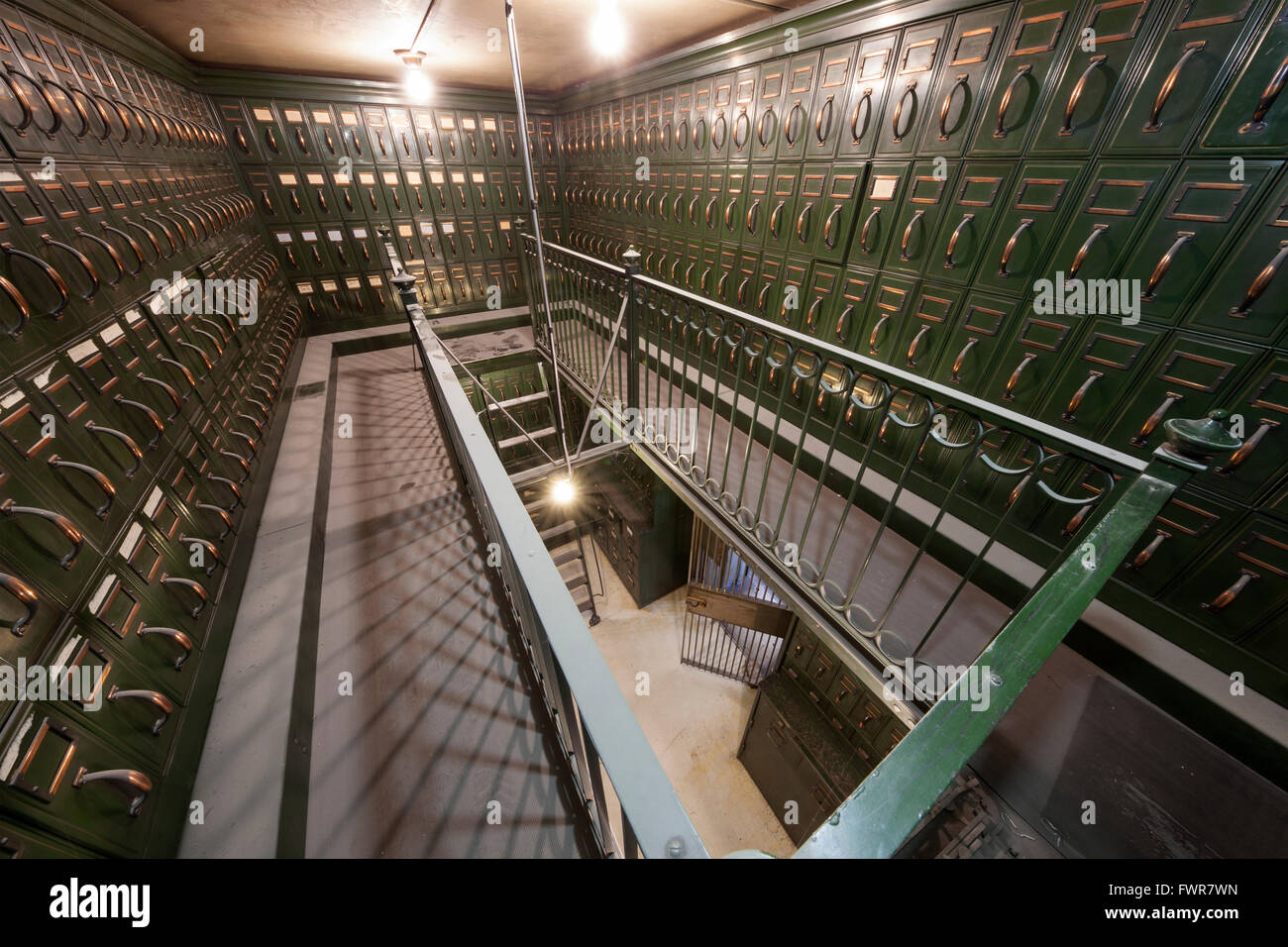 Inside and old Bank Vault. - Stock Image